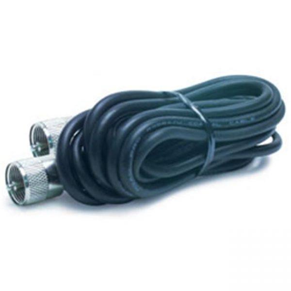Cable d'antenne 9′ avec PL-259 Connecteur noir
