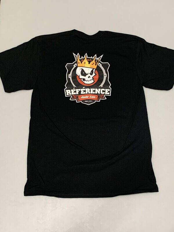 t shirt noir logo arriere